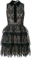 Alice + Olivia Alice+Olivia lace detail fitted dress