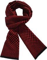 SSLR Men's Cashmere Feel Colorful Striped Scarf