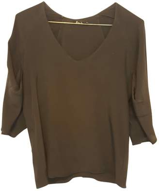 Freda Black Silk Top for Women