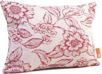 Rennie & Rose Design Group Hawthorne Floral Boudoir/Breakfast Lumbar Pillow & Rose Design Group Color: Cardinal