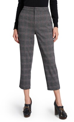 ModCloth Plaid Crop Ponte Knit Trousers