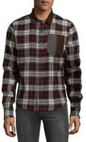 Mostly Heard Rarely Seen Plaid Cotton Button-Down Shirt