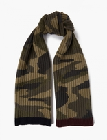 Valentino Camouflage Ribbed Cashmere Scarf