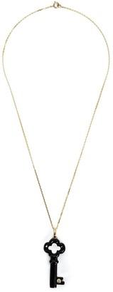 Kristin Hanson Diamond Detail Clover Key Necklace