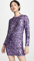 Ashish Sequin Long Sleeve Dress