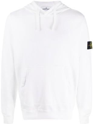 Stone Island Long Sleeve Logo Patch Hoodie
