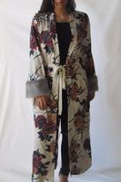 Alythea Fur Sleeve Kimono