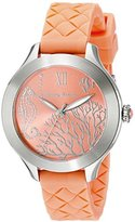 Tommy Bahama Women's 10018338 Waikiki Reef Stainless Steel Watch with Orange Silicone Band