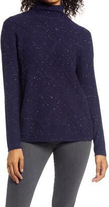 Caslon Cowl Neck Pointelle Sweater