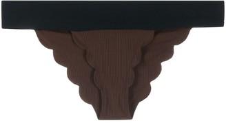 Marysia Swim Contrast Bikini Bottoms
