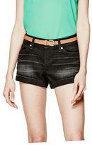 GUESS Women's Hatti Black Denim Shorts