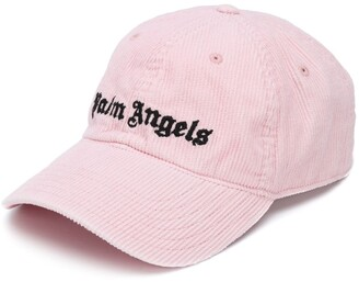 Palm Angels Logo Embroidered Corduroy Cap