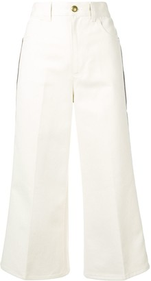 Gucci Web trim cropped jeans