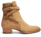 Saint Laurent Wyatt Jodphur suede ankle boots