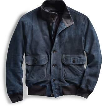 Ralph Lauren Indigo Suede Jacket