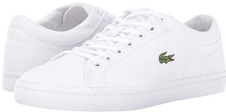 Lacoste Straightset BL 2 Canvas (White) Women's Shoes