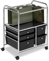 Honey-Can-Do Hanging File Storage Cart, 5 Drawer