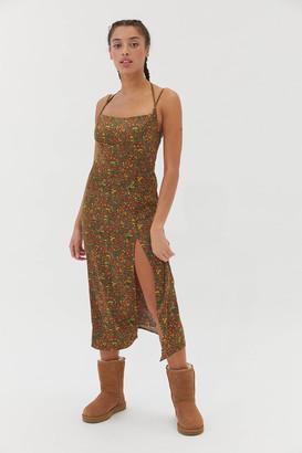 Urban Outfitters Sasha Satin Midi Slip Dress