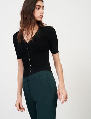 Maje Lightweight short-sleeved jumper