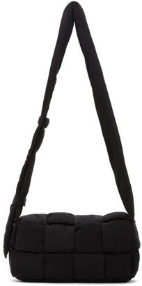 Bottega Veneta Black Intrecciato Nylon Messenger Bag
