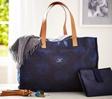 Pottery Barn Kids Navy Printed Canvas Diaper Tote