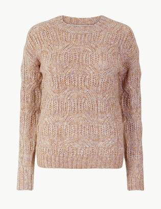 Per Una Per UnaMarks and Spencer Cable Knit Relaxed Fit Jumper