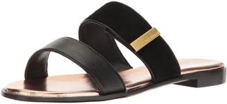 Ted Baker Women's IJOE SUED AF Black Sandal 6 M US