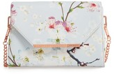 Ted Baker Hadly Cherry Blossom Faux Leather Crossbody Bag - Grey