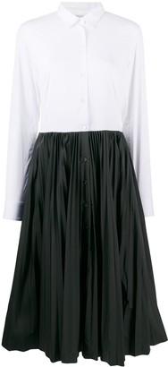 Sara Roka Tosca two-tone shirt dress