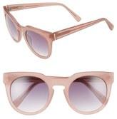 Derek Lam Women's 'Stella' 51Mm Round Sunglasses - Ink