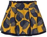 Catimini Yellow and Blue Reversible Leaf Skirt