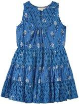 Pink Chicken Devon Dress (Toddler/Kid) - Riviera Blue/Artichoke - 5 Years