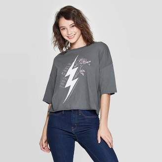 Grayson Threads Women's World Tour Short Sleeve Cropped T-Shirt Juniors') - Dark Gray