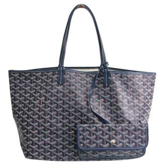 Goyard Saint-Louis Navy Cloth Handbags