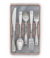 Cambridge Silversmiths Waylen 40-Piece Mirror Stainless Steel Flatware Set in Marble & Copper Buffet