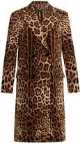 Dolce & Gabbana Double-breasted leopard-print velvet coat