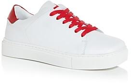 Joshua Sanders Women's Squared Square Toe Low Top Sneakers