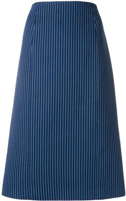 Fendi Pinstripe Midi Skirt