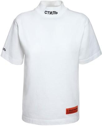 Heron Preston Mock Collar Cotton Jersey T-shirt