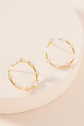 Anthropologie Nadia Hoop Earrings By in Pink