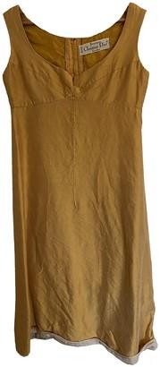 Christian Dior Yellow Silk Dresses