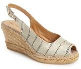 Toni Pons Women's 'Carmina' Silk Slingback Wedge Sandal