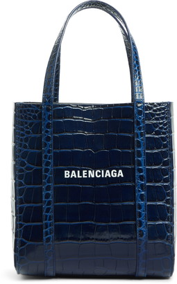 Balenciaga Extra Extra Small Everyday Croc Embossed Calfskin Tote