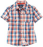 Osh Kosh Toddler Boy Short Sleeve Poplin Plaid Button-Down Shirt