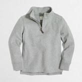 J.Crew Factory Boys' sueded half-zip popover sweatshirt
