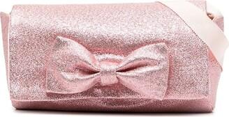 Hucklebones London Bow glitter-effect bag
