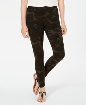 Style&Co. Style & Co Petite Camo Daze Printed Leggings, Created for Macy's