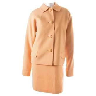 Gianni Versace Orange Wool Dress for Women Vintage