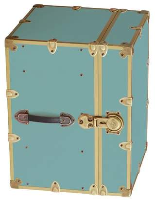 Pottery Barn Teen Canvas Dorm Trunk with Rubbed Brass Trim, Bedside, Pool