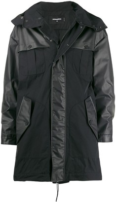 DSQUARED2 mixed material parka